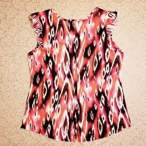 new directions Tops - New Directions Sleeveless Ruffled Top. MED